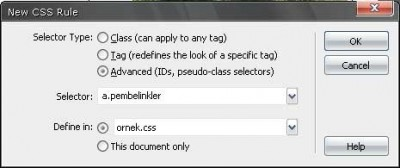 Bir sayfada birden fazla text-link rollover tanımlamak için