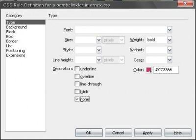 İkinci rollover test link için stil özellikleri