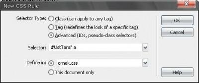 Farklı renkte rollover text-link tanımlamak için farklı bir yöntem