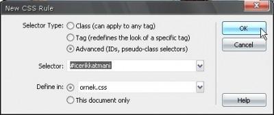 Katman için bir CSS yaratıp bu stili katmana uygulayabilirsiniz