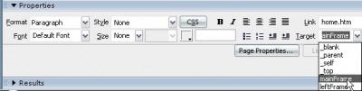 Linklerin hdeflerini Properties paneli üzerinden değiştirebilirsiniz