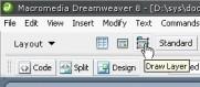 Dreamweaver Katman çizme düğmesi