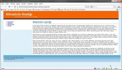Elastik sayfanın tarayıcıdaki görünümü
