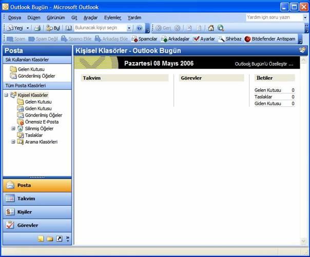 Outlook 2003 Kurulumu