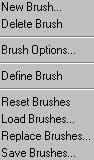 Bu dört dosyayı teker teker Load ettiğiniz zaman bu solda gördüğünüz Brush`la takım olarak Brush Paletinize dizilecektir