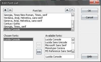 Yazı tipi düzenleme iletişim penceresi