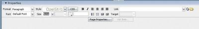 Dreamweaver Properties panel vs CSS ilişkisi