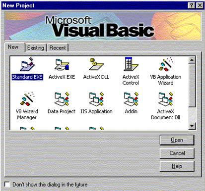 Visual Basic Programı Başlatma