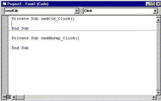 Visual Basic Formları Programlama